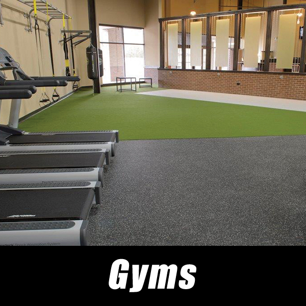 Gym Flooring, Rubber Mats, Turf installation