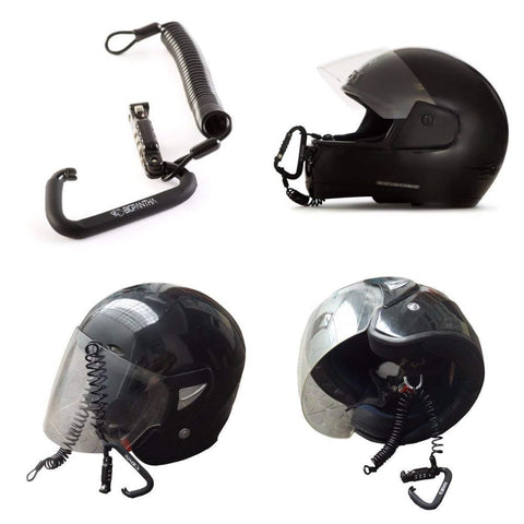 Motorcycle Helmet Lock & Cable