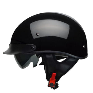 Motorcycle Half Helmet with Sunshield for Men & Women