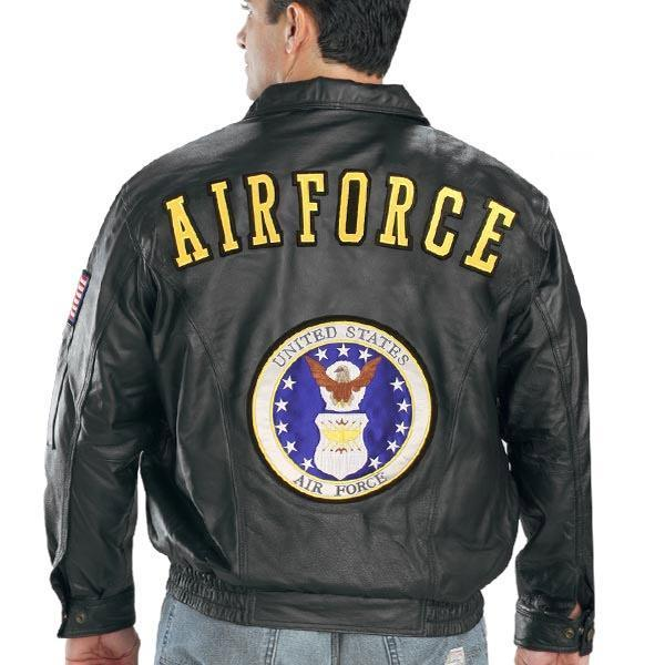 USA Leather Men's 'Airforce' Black Leather Jacket