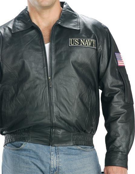 USA Leather Men's 'Navy' Black Leather Jacket