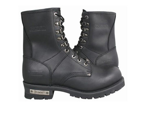 Xelement 1446 'Vigilant' Men's Black Logger Boots with Inside Zipper