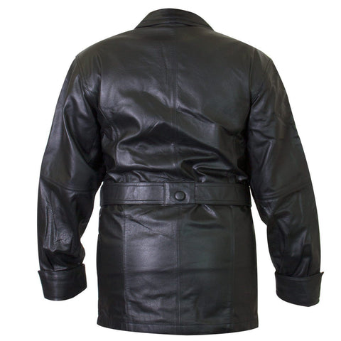 Ladies Lucky Leather 199 Cowhide Leather Coat with 2 Button Closure and Belt