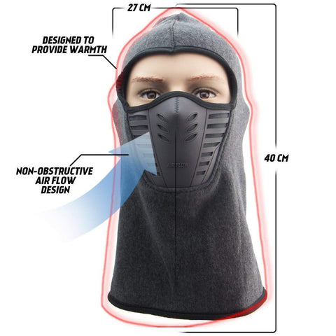 Image of Xelement Winter Fleece Full Face Grey Balaclava
