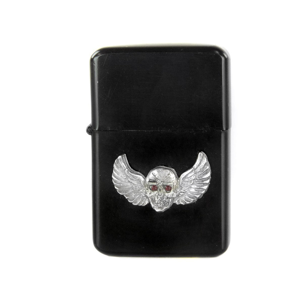 Skull with Wings Oil Lighter