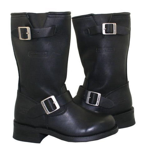 Image of Xelement 2440 'Classic' Women's Black Advanced Engineer Motorcycle Biker Boots