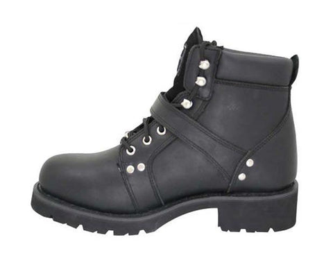 Image of Xelement 2469 Women's Black Advanced Lace Up Motorcycle Biker Boots
