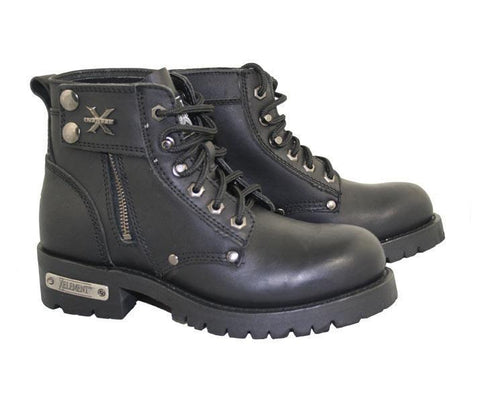 Image of Xelement 2505 'Righteous' Women's Black Zipper Motorcycle Boots