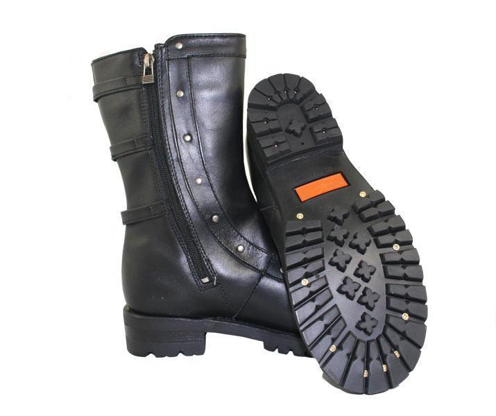 Xelement 2510 'Siren' Women's Black Strap Motorcycle Boots