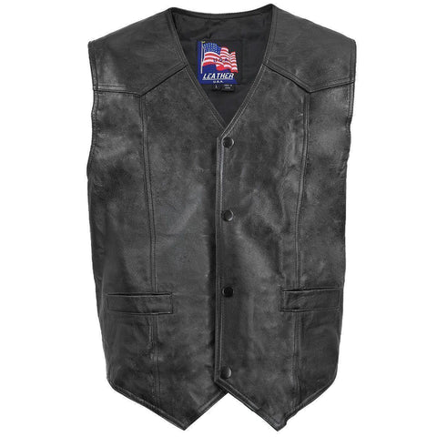 Image of Men's Patriotic Vietnam Leather Vest