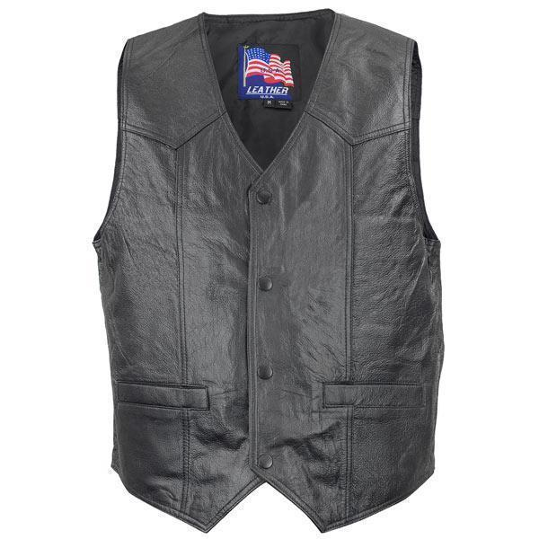 Men's 3025 Afghanistan US War Vet Leather Vest