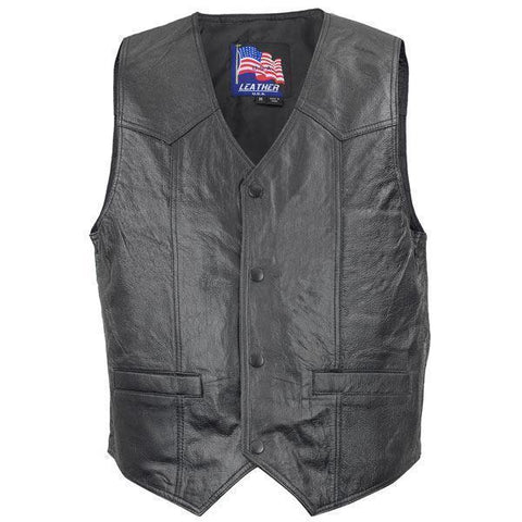 Image of Men's 3025 Afghanistan US War Vet Leather Vest