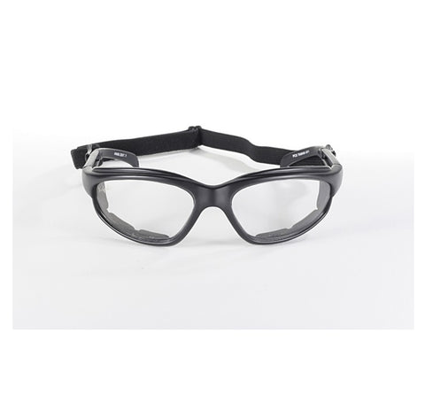 Image of Polycarbonate Clear Sunglasses with Inner Padding and Detachable Strap