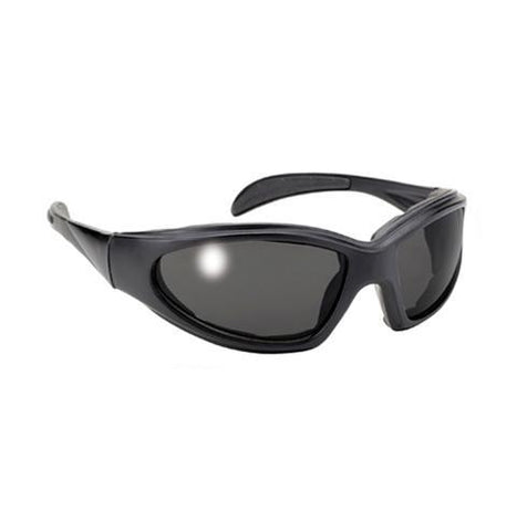 Pacific Coast Chopper Black Sunglasses with Smoke Lens and UV 400 Protection with Padded Frame