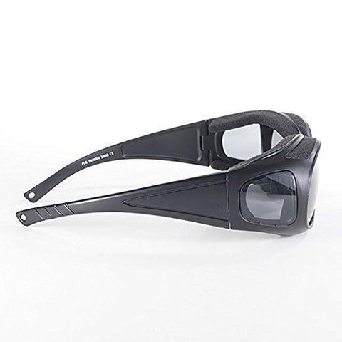 Image of Pacific Coast Defender 5500 Smoke Lens Wear Over Sunglasses
