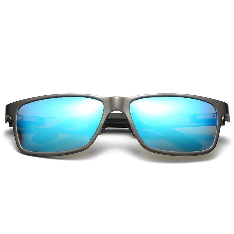 Pacific Coast Men's Blue Ice Sunglasses with Polarized Blue Mirror Lens 400 UV Protection