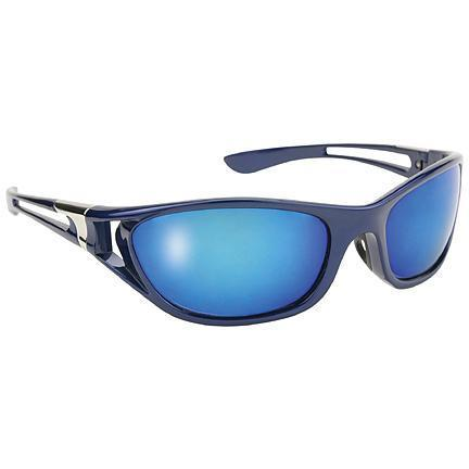 Image of Pacific Coast Men's Blue Ice Sunglasses with Polarized Blue Mirror Lens 400 UV Protection