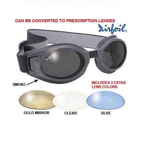 Image of Pacific Coast Airfoil Black Goggles with Interchangeable Polycarbonate Lenses