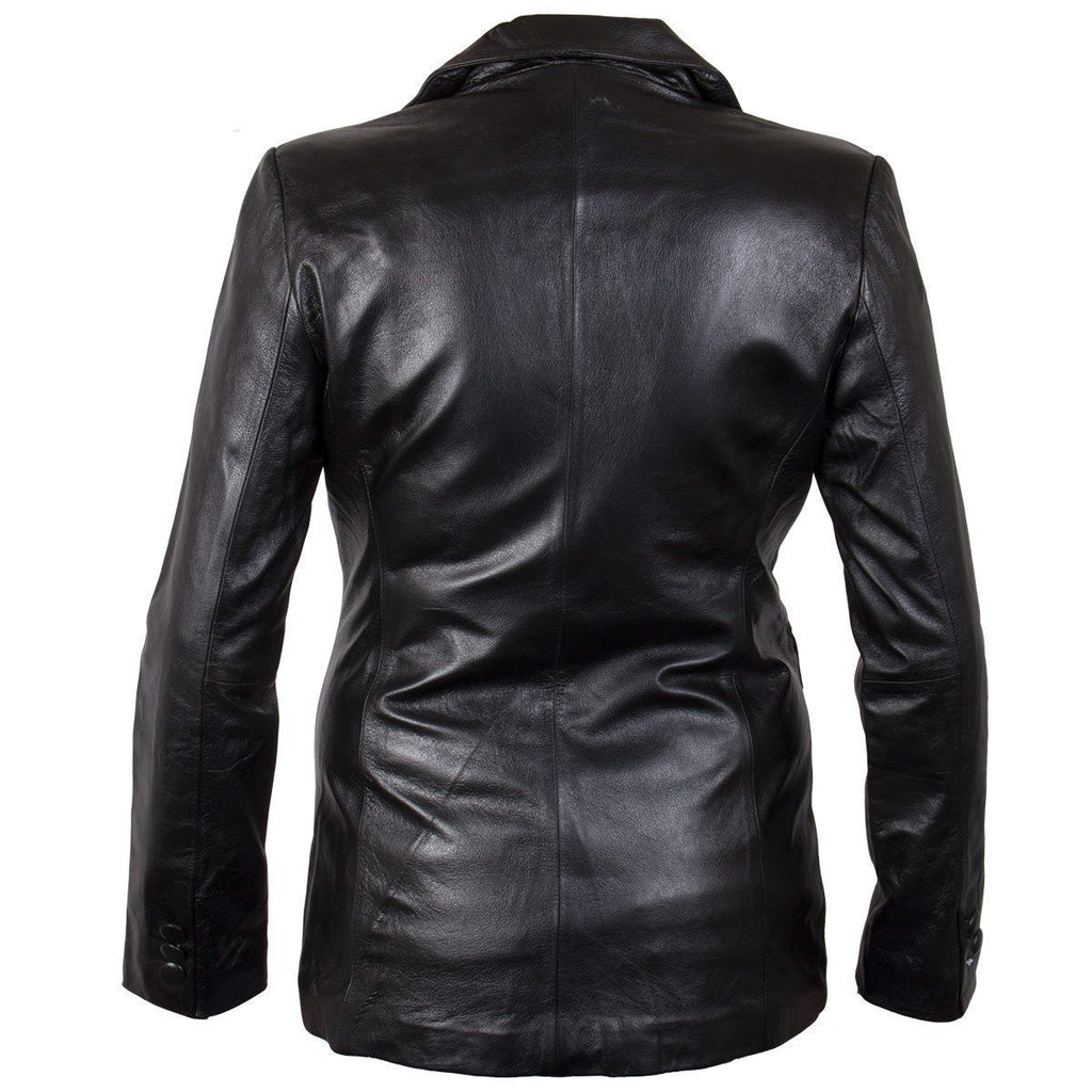 Ladies Lucky Leather 7755 Cowhide Leather Coat with 2 Button Closure