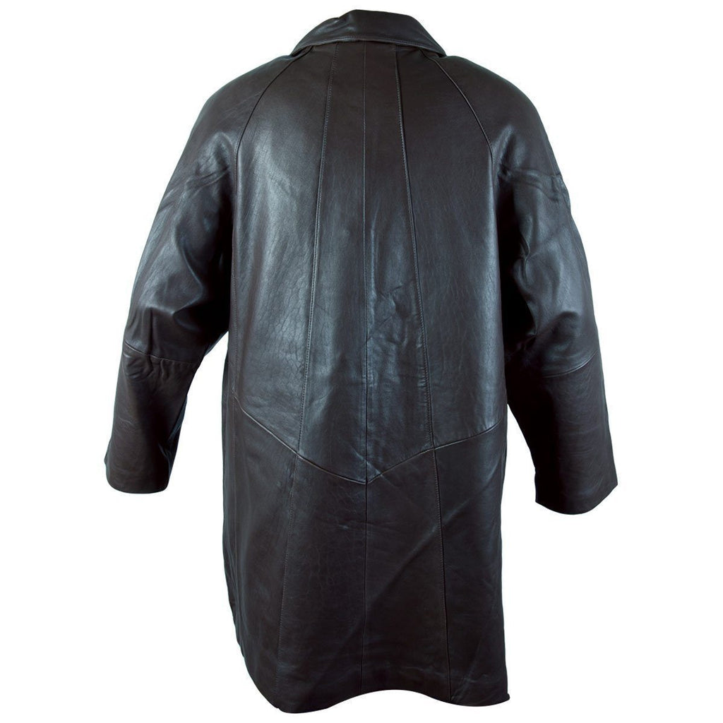 Ladies Lucky Leather 80 Black Soft Touch Supple Lambskin Leather Coat