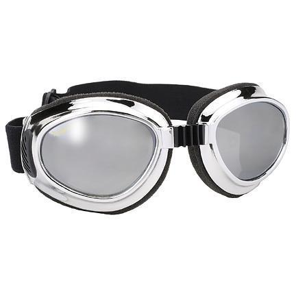 Image of Airfoil Chrome Goggles with Silver Mirror Lens UV 400 Protection