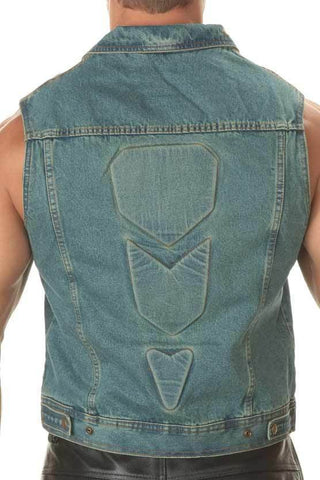 Xelement B281 Men's Advanced Denim Blue Vest with Padding