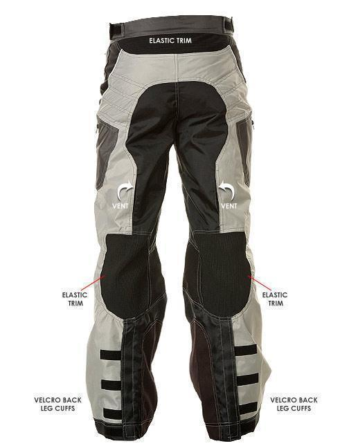 Xelement B4403 Men's Black/Silver Advanced Level-3 Tri-Tex Fabric Motorcycle Pants