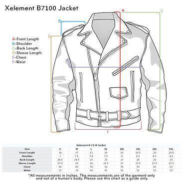 Image of Xelement B7100 'Classic' Men's Black TOP GRADE Leather Motorcycle Biker Jacket