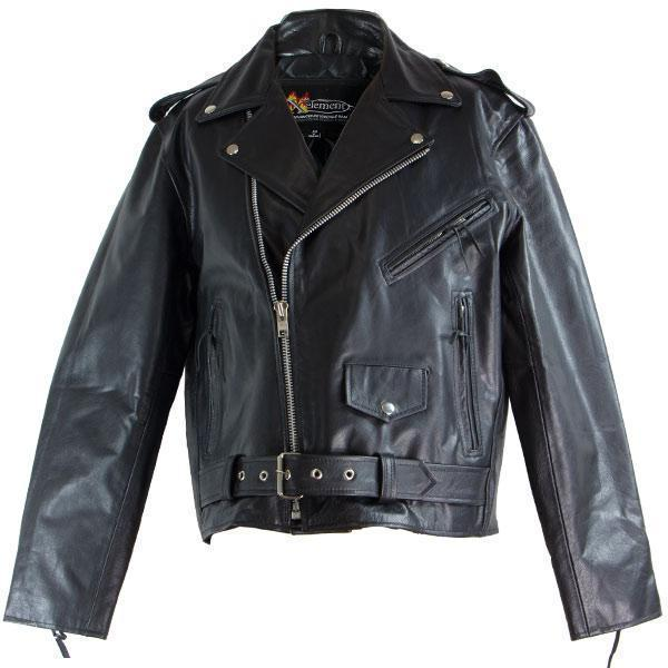 Xelement B7100 'Classic' Men's Black TOP GRADE Leather Motorcycle Biker Jacket