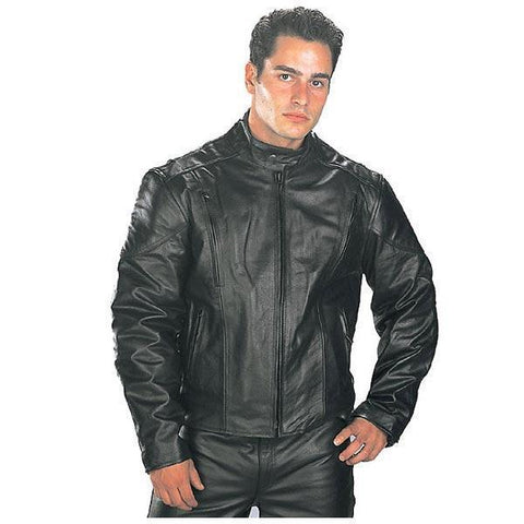 Xelement B7201 Men's Top Grade Leather Motorcycle Jacket with Zip-Out Lining