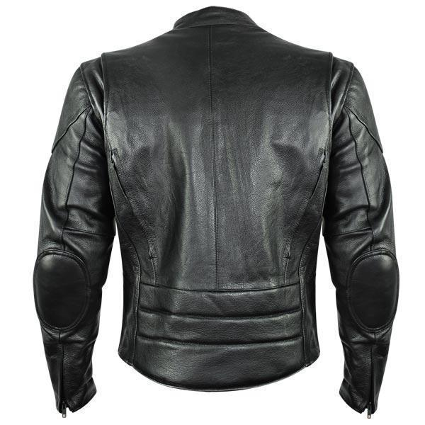 Xelement B7209 'Renegade' Men's Black Leather Motorcycle Jacket