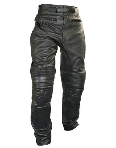 Xelement B7466 Men's Black Armored Cowhide Leather Racing Pants