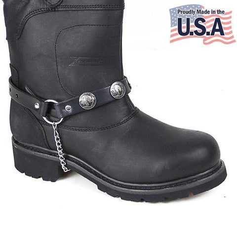Motorcycle Buffalo Nickle Boot Chain