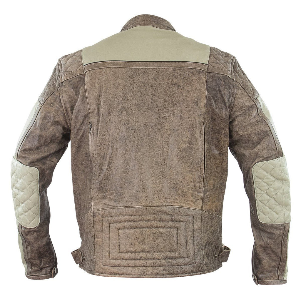 Xelement BXU1891 'Burn Rubber' Men's Tan Leather Jacket with Gun Pocket