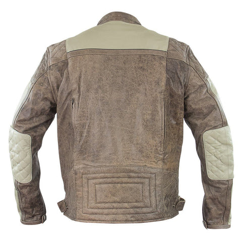 Image of Xelement BXU1891 'Burn Rubber' Men's Tan Leather Jacket with Gun Pocket