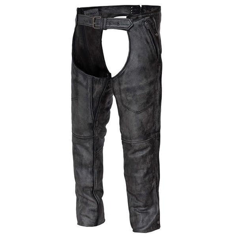 Image of Xelement BXU7205 Urban Armor 'Vintage' Unisex Grey Leather Chaps