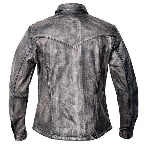 Image of Xelement BXU862055 Urban Armor 'Comfort' Women's Grey Leather Shirt with Gunmetal Snaps