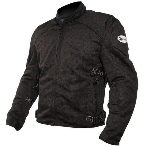 Xelement CF2157 Men's Black Mesh Motorcycle Jacket with Level-3 Advanced Armor