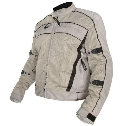 Image of Xelement CF378 'Igniter' Men's Silver Armored Tri-Tex Jacket