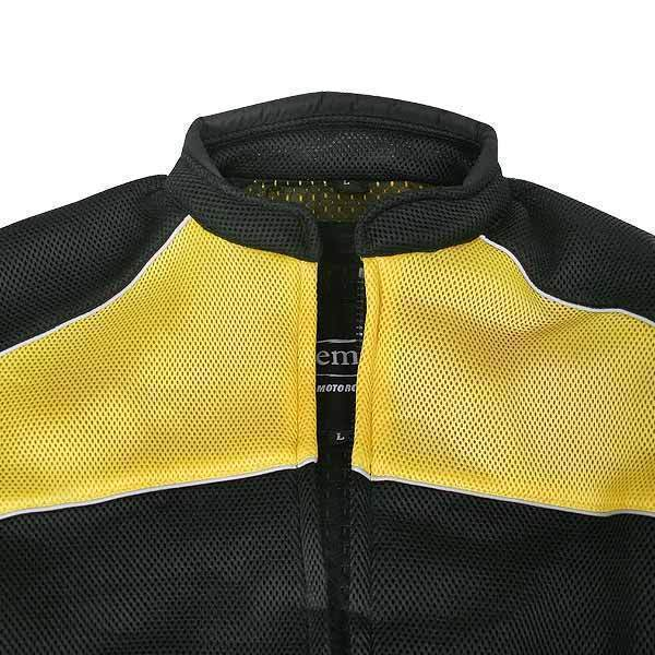 Xelement CF509 Men's Black/Yellow Armored Mesh Jacket