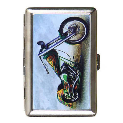 Image of Green and Yellow Chopper Cigarette Case