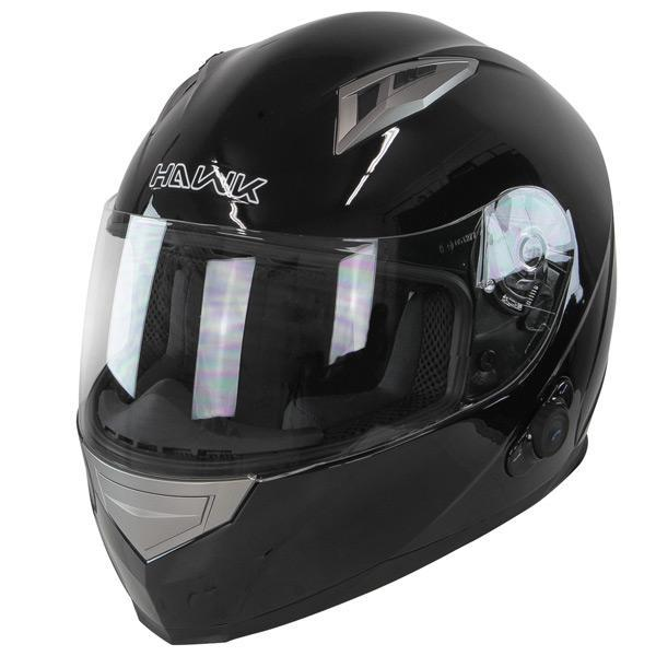Hawk H-510 Glossy Black Bluetooth Full Face Helmet