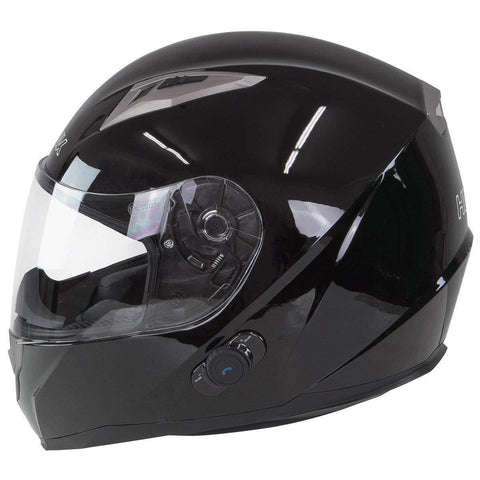 Image of Hawk H-510 Glossy Black Bluetooth Full Face Helmet