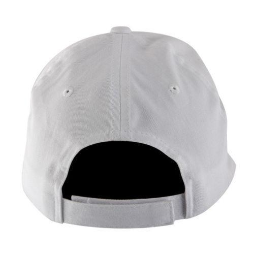 Officially Licensed Hustler Classic Baseball White Twill Cap with 3D Puff Hustler Embroidered Logo