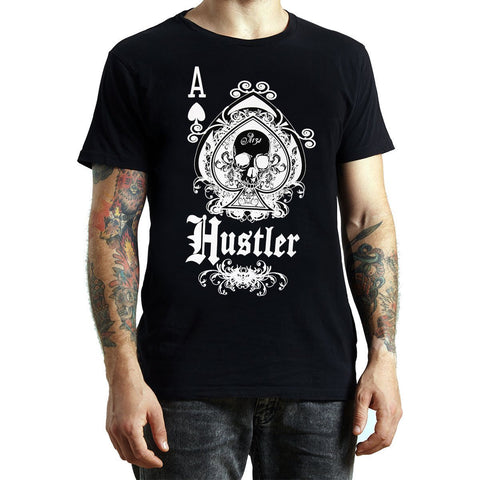 Men's Officially Licensed Hustler HST-660 'Hustler Ace of Spades' Black T-Shirt