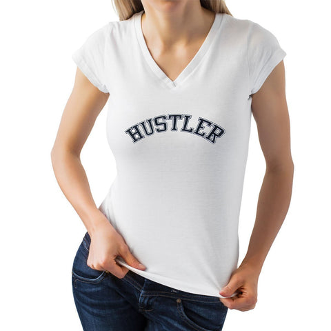 Ladies Officially Licensed HST-700 'Hustler' White V-Neck Tee