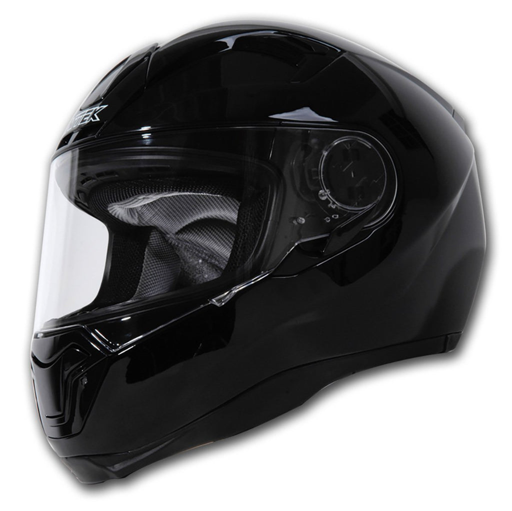 Nitek Interceptor Glossy Black Full Face Motorcycle Street Helmet