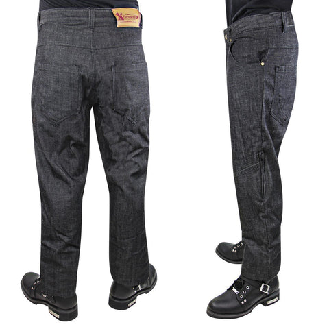 Image of Xelement K2607 Men's Black Armored Denim Jeans