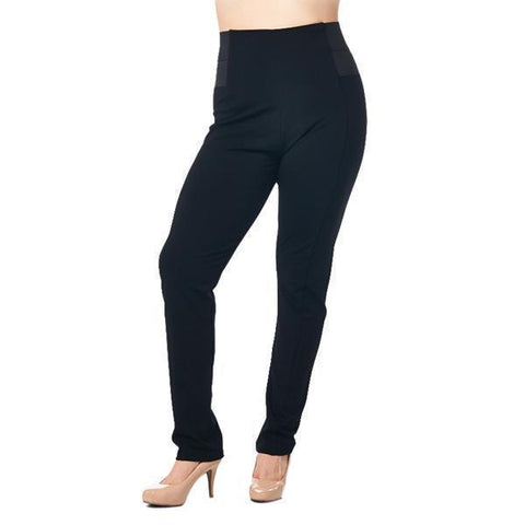 Image of LA Society Active Wear Women's Black High Rise Waist with Elastic Leggings