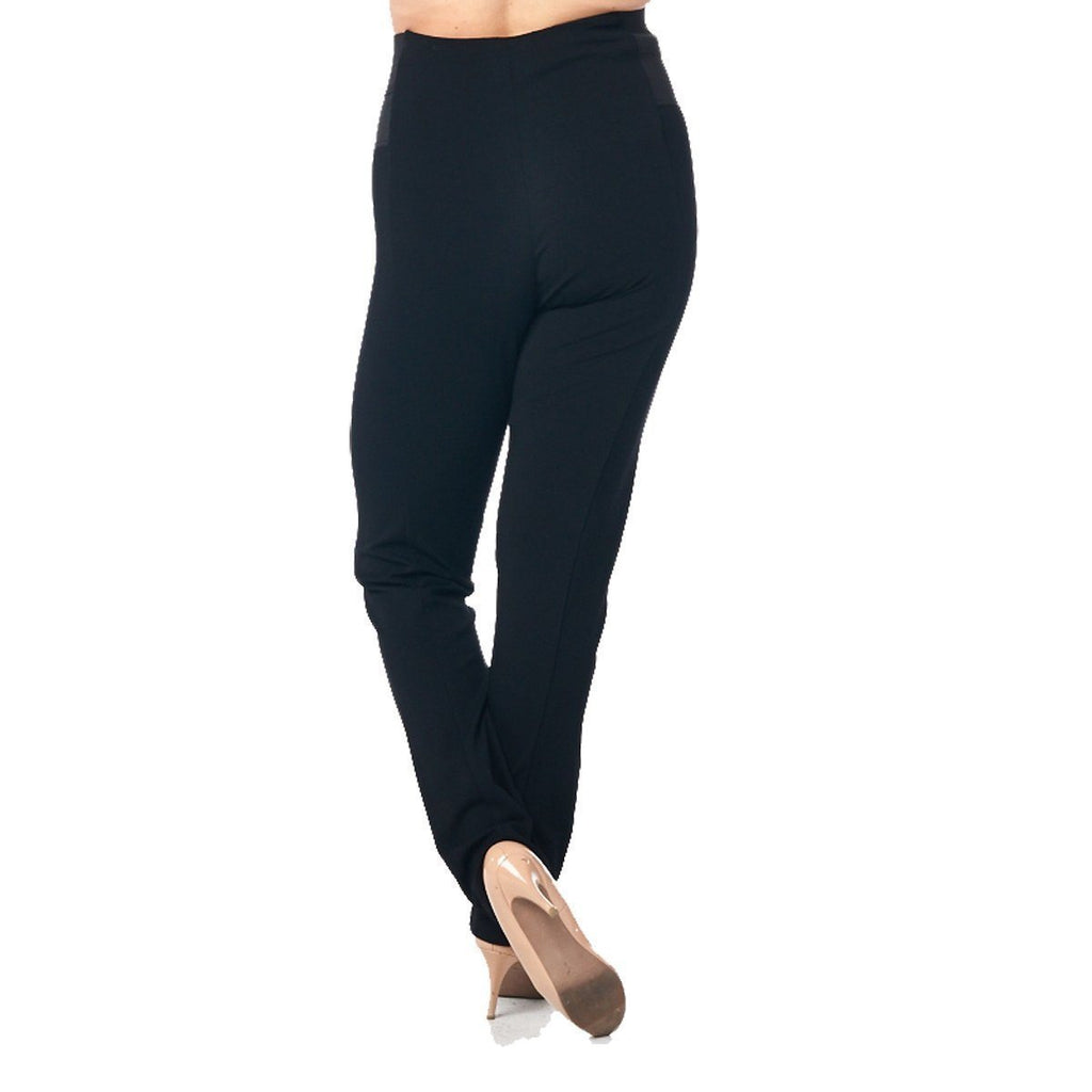 LA Society Active Wear Women's Black High Rise Waist with Elastic Leggings